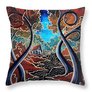 Throw Pillow featuring the painting Bending Time by Steven Lebron Langston