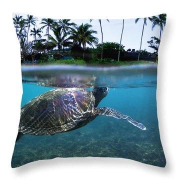 Beneath The Palms Throw Pillow