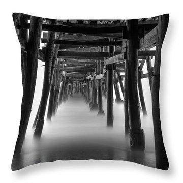 Beneath The Pier Throw Pillow by Tassanee Angiolillo