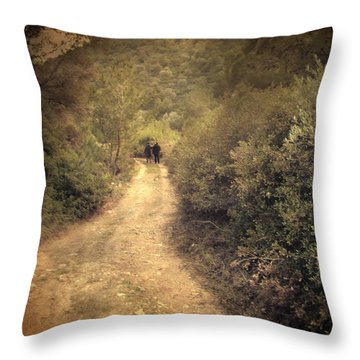 Beneath The Woods Throw Pillow by Taylan Apukovska
