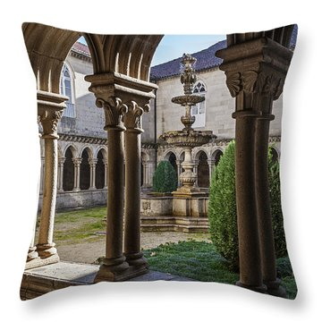 Benedictine Gothic Cloister Throw Pillow by Jose Elias - Sofia Pereira