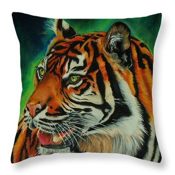 Bengal Throw Pillow by Jean Cormier