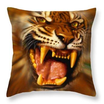 Bengal Throw Pillow by Jurek Zamoyski