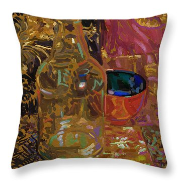 Throw Pillow featuring the digital art Benihana by Clyde Semler