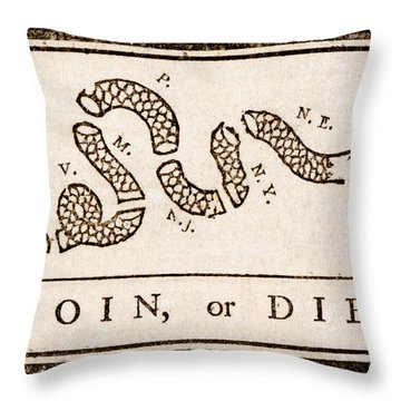 Benjamin Franklin's Join Or Die Cartoon Throw Pillow