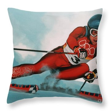 Benjamin Raich Throw Pillow by Paul Meijering