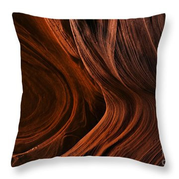 Bent By The Elements Throw Pillow by Mike  Dawson