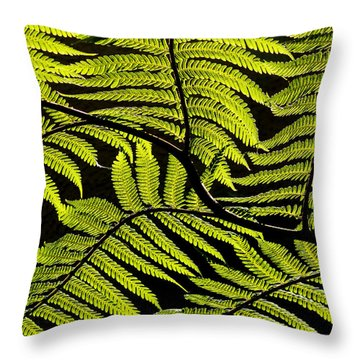 Bent Fern Throw Pillow