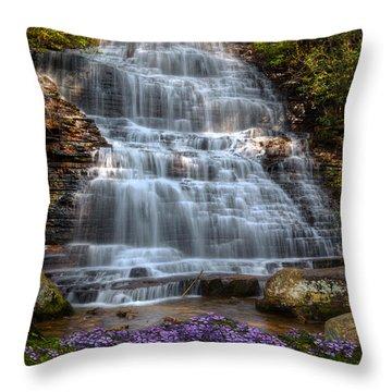 Benton Falls In Spring Throw Pillow