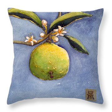 Bergamot Throw Pillow by Katherine Miller