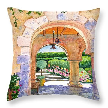 Beringer Winery Archway Throw Pillow by Gail Chandler
