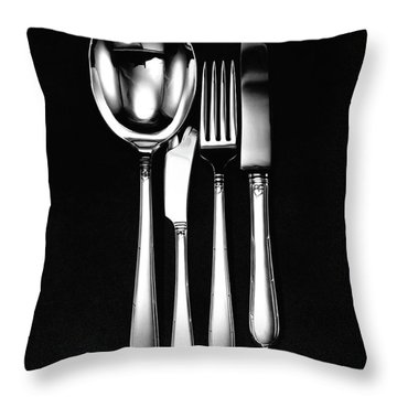 Berkeley Square Silverware Throw Pillow
