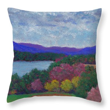 Berkshires In Late October Throw Pillow