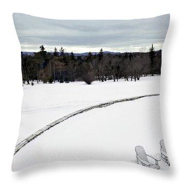 Berkshires Winter 2 - Massachusetts Throw Pillow by Madeline Ellis