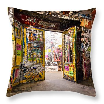 Berlin - The Kunsthaus Tacheles Throw Pillow by Luciano Mortula