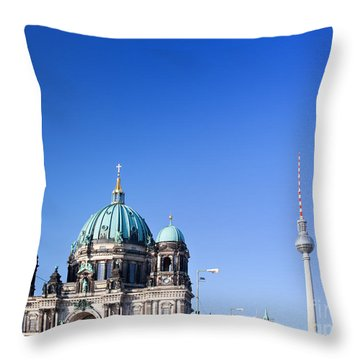 Berlin Cathedral And Tv Tower Throw Pillow
