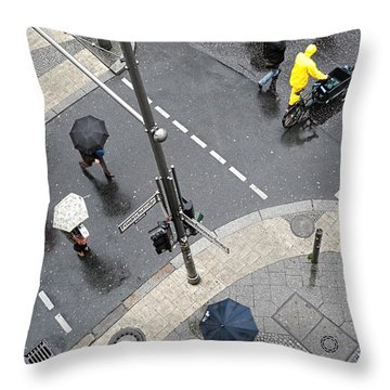 Berlin - Friederichstrasse Throw Pillow by Osvaldo Hamer