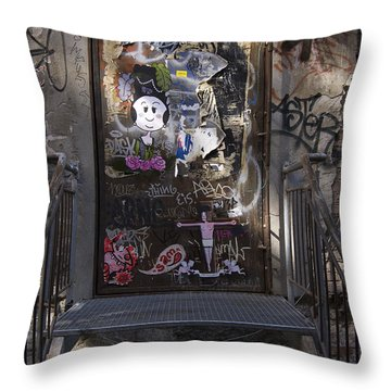 Berlin Graffiti - 2  Throw Pillow by RicardMN Photography