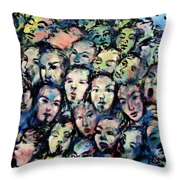 Berlin Wall Graffiti  Throw Pillow