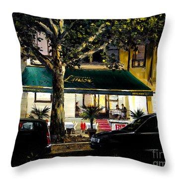 Kurfurstendamm Cafe Throw Pillows