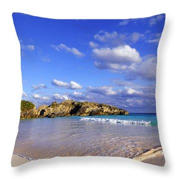 Bermuda Horseshoe Bay Throw Pillow by Charline Xia