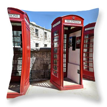 Bermuda Phone Boxes 2 Throw Pillow