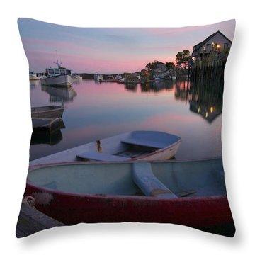 Bernard Harbor Throw Pillow