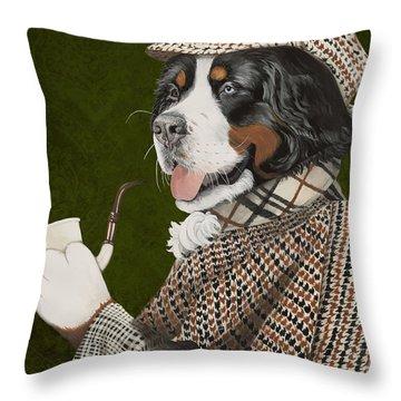 Berner Of The Baskerville Throw Pillow