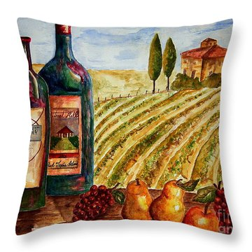 Bernhardt And Retreat Hill Winery Throw Pillow