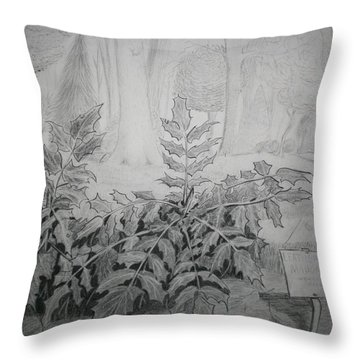 Bernheim Forest Plant Throw Pillow by Stacy C Bottoms