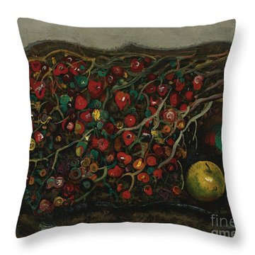 Berries And Apples Throw Pillow