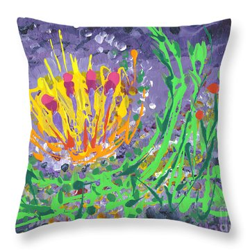 Berries And Brambles Throw Pillow