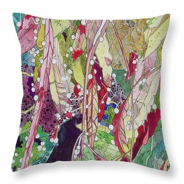 Berries And Cactus Throw Pillow