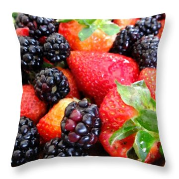 Berries Throw Pillow by Scott Kingery