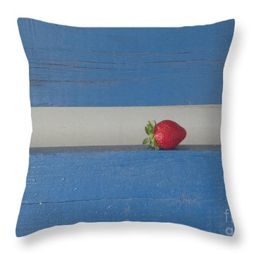 Berry Blues Throw Pillow