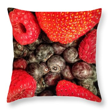 Berry It Throw Pillow by Olivier Calas