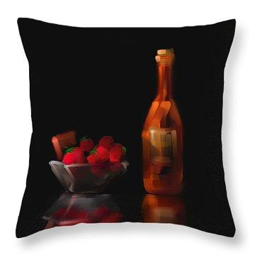 Berry Romantic Throw Pillow by Steven Lebron Langston