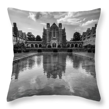 Berry University Throw Pillow by Rebecca Hiatt