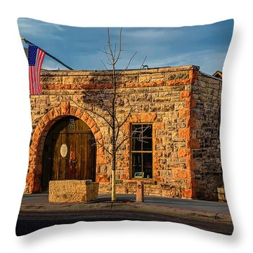 Berthoud Museum Throw Pillow by Jon Burch Photography