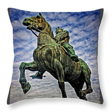 Throw Pillow featuring the photograph Bertrand Du Guesclin by Elf Evans