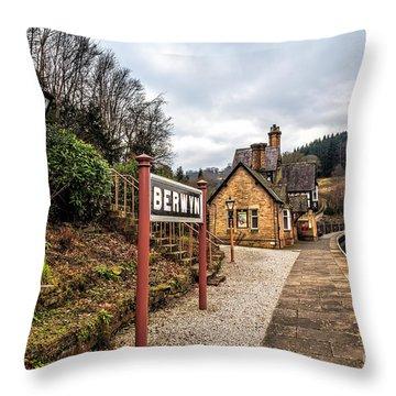Berwyn Station Throw Pillow by Adrian Evans