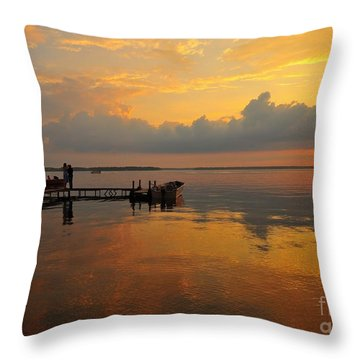 Beside Still Waters Throw Pillow by Terri Gostola