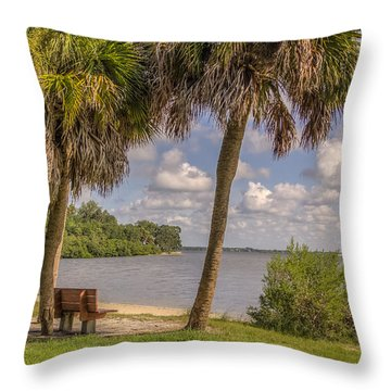 Throw Pillow featuring the photograph Beside The Shore by Jane Luxton
