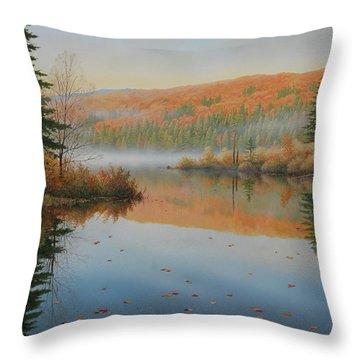 Beside The Still Water Throw Pillow