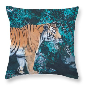 Beside The Still Water Throw Pillow