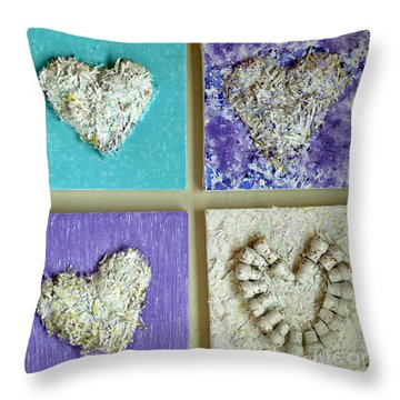 Besso Decade Hearts Throw Pillow