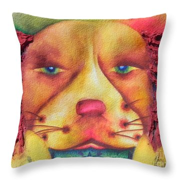 Best Dog In Show With Dog A Tude Two Throw Pillow by Chrisann Ellis