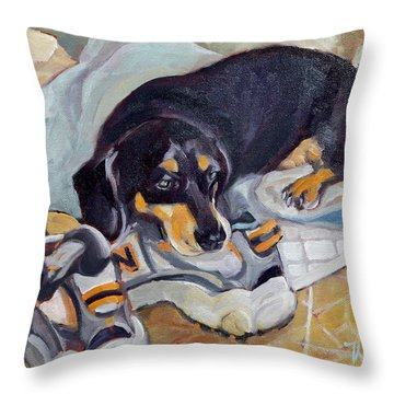 Best Dog In The Whole World Throw Pillow