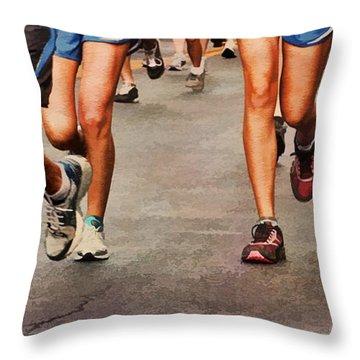 Best Foot Forward Throw Pillow