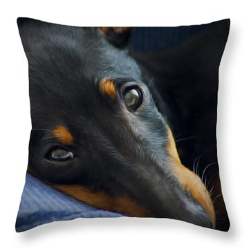 Best Friend Throw Pillow by Aged Pixel